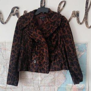 Inc International Cheetah Blazer